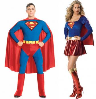 Kostüm Erwachsene Superman & Wonder Woman