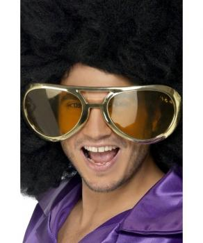 Brille Afro Gross gold